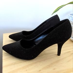 🌼💜Black Stone Heels